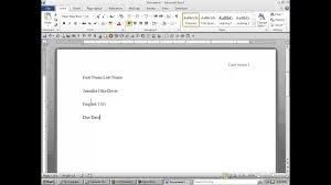 How To Format Your Word Document To Meet Mla Requirements Youtube