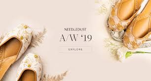 Needledust: <b>Handcrafted</b> Leather Juttis | <b>Flat</b> Mules Shoes For <b>Women</b>