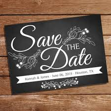 Save The Dates Wedding Chalkboard Save The Date Card Save The Date Wedding Stationery