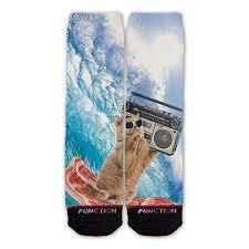 Function - Bacon Surfing Cat Fashion Socks: Clothing - Amazon.com