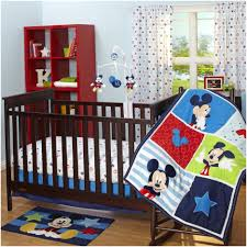 mickey mouse crib bedding fascinating disney red minnie mouse 4 pc crib bedding set bedding designs