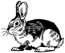 ウサギ 切り絵 モノクロ イラスト素材 1489327 フォトライブラリー