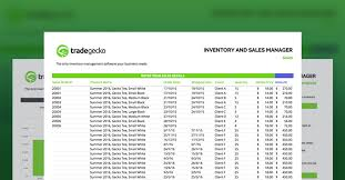 inventory software in excel free inventory spreadsheet tradegecko