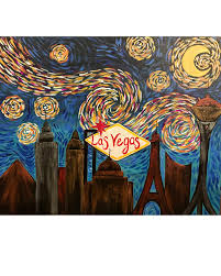 starry night las vegas painting it forward