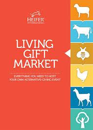 host a living gift market
