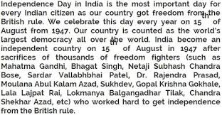 hindi independence day speech for class to   15 2016 independence day hindi speech for class 6 to 10 students