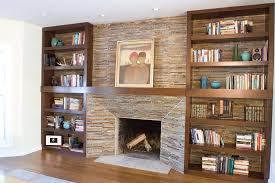 built ins around fireplace ideas bookshelves home design bookcases with bookcase best shelves shaped study table
