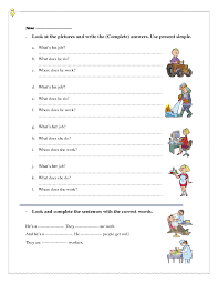 What Do Jobs Look For 330 Free Jobs And Professions Worksheets