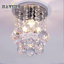 modern mini rain drop small crystal chandelier lighting for bedroom living room ceiling lamp corridor hallway lamp glass chandeliers glass ball chandelier