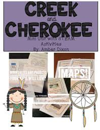 Creek And Cherokee Venn Diagram Creek And Cherokee Social Studies Unit