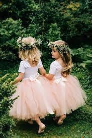 simple tulle flower girl dress