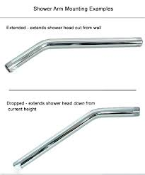 shower head pipe shower pipe size unique specialty shower arms head pipe from the wall or shower head pipe