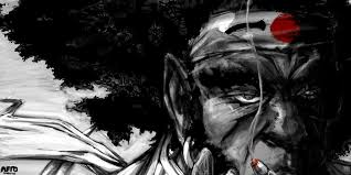 afro samurai high quality background on walls cover