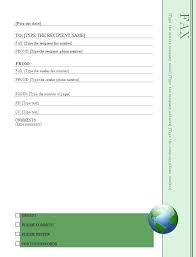 Earth Day Fax Cover Sheet Template Templates Free Flyer