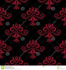 Bloemen Uitstekende Ornamenten Rood En Zwart Naadloos Patroon Voor