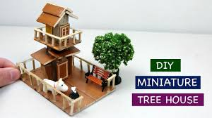 diy miniature tree house for fairy garden 3 creative craft ideas