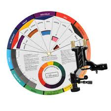 Details About Nail Art Paint Color Wheel Chart Board W Lining Shading Tattoo Machine Kit