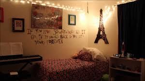 teenage girl bedroom lighting. Wonderful Teenage Bedroom Lighting Ideas Simple Teen Christmas Idea Wire Lights Arranged On Wall Eiffel Tower Craft Decoration Decorations Fancy Girl N