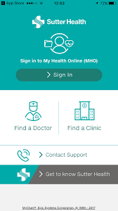 Sutter Health My Health Online #ios#apps#app#Medical | Health, Health  signs, Epic systems