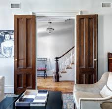 row brownstone living room
