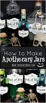 How to Make Apothecary Jars and FREE Printable Labels. Halloween  DiyHalloween ...