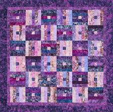 31 best QC - Hoffman Fabrics quilt projects images on Pinterest ... & Free Quilt Pattern - Plum Pudding Quilt Precut strips make up the  simplified blocks in a Adamdwight.com