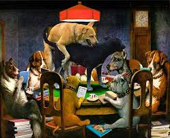 dogs playing pool posters