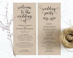 Wedding Programs Template Free Rustic Wedding Programs Program Fan Template Free Jwintz
