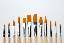 types of paintbrushes for artists