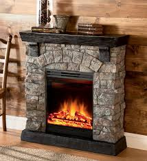 image of electric stone fireplace menards