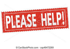Please Help Sign Or Stamp On White Background Vector Illustration