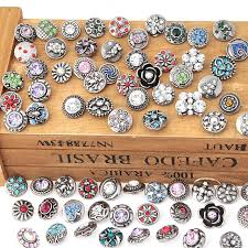 whole 50pcs lot mix styles colors 12mm small on snap jewelry interchangeable ginger snap on charm