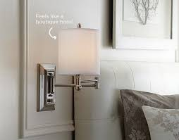 looking to create a boutique hotel style retreat in your bedroom weve got the canvas holden wall sconce light just for you maximize this look by adding bedroom sconce lighting