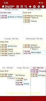 4 Team Schedule Template