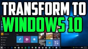 how to transform windows 7 8 to look like windows 10 windows 10 transformation pack