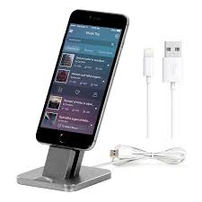 100 newest metal aluminum alloy mobile phone desk dock holder stand charger for apple iphone