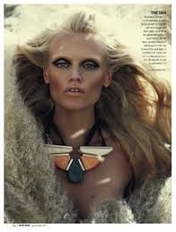 yulia t marie claire south africa december 11 disco makeup tribal