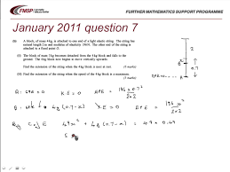 fmsp revision aqa m2 january 2016 qn 7 elastic potential energy