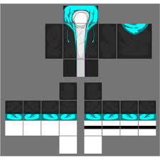 How To Design Clothes In Roblox Black Jacket With Cyan Blue Hoodie A Image By 2otaku4lyfe