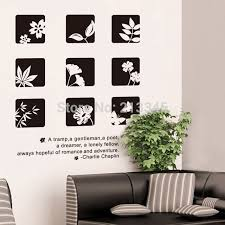 fundecor black white chinese style fl wall stickers on interior