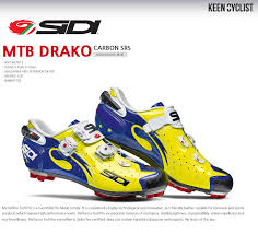 Details About Sidi Drako Carbon Srs Mtb Cycling Shoes Yellow Fluo Blue