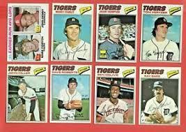 1977 TOPPS DETROIT TIGERS TEAM SET/LOT - FIDRYCH L/L RC, THOMPSON RC ++  EX-NM | eBay