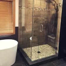 frameless shower door stop custom cut shower door by glass crl chrome square style frameless shower