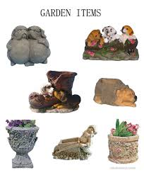 garden items. Polyresin Garden Items A