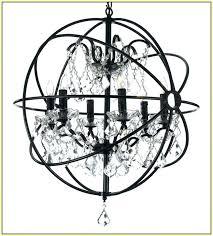 unbelievable wrought iron orb chandelier wrought iron orb chandelier wrought iron crystal orb chandelier benita antique