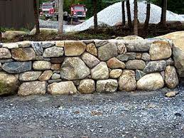 rock wall landscape dry stone wall