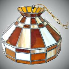 stain glass lamp hanging stained glass lamp le glass amber globe lane antiques and collectibles ruby stain glass lamp