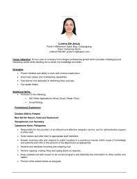 Resume Format For Job Application First Time Gentileforda Com