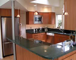Red Lacquer Kitchen Cabinets Red Brown Lacquer Pine Wood Kitchen Cabinet Using Black Marble Top