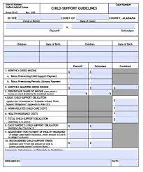 Alabama Child Support Calculator Guidelines Child